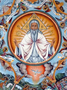 God the Father, Creator of Visible and Invisible St Ivan of Rila Monastery, Bulgaria
