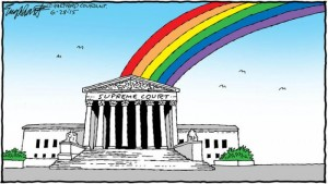 Supreme Court rainbow